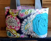 Cora Girly Paisley Scripture Tote-Made to Order