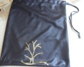 shoes bag black / travel bag shiny
