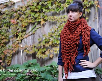 Chunky Cowboy Bandana Scarf in Spice - Fall, Warm & Cozy, Holiday Specials, Accessories