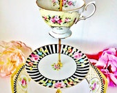 The Lucie Vintage China Dessert Tea Stand by Le Petit Pretties - 3 Tier