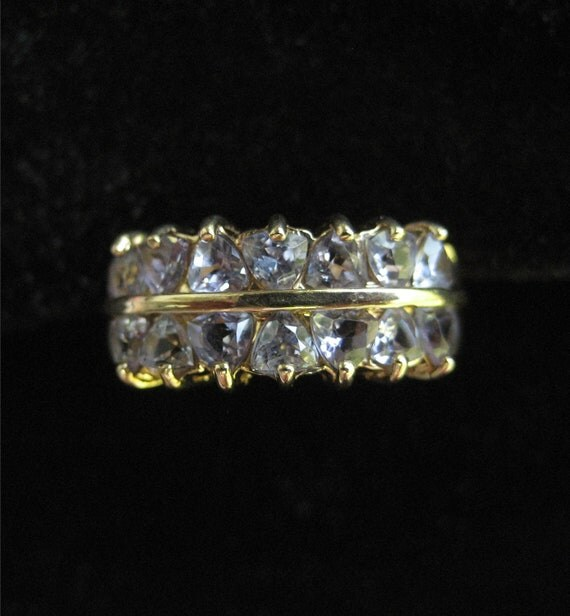 ON HOLD 14K Solid Gold Iolite Ring, Size 5