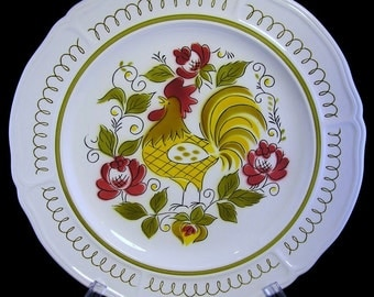 "Mikasa Heritage Retro Rooster 12"" Terra Stone Chop Plate: Something to Crow About"