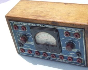 Vintage Multimeter / Multitester  in Dovetailed Wooden Box / Make Offer
