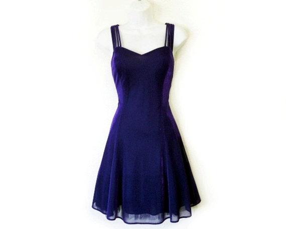 Sale Vintage 80s Dress Iris Sparkle Party Prom By