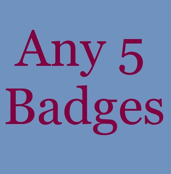Multipack Badge Offer - Any 5 Badges