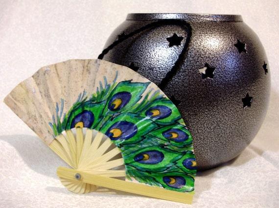 Peacock Feathers - Ornament Fan
