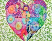 """Wall Poster Picture Art Decal Child Couple Heart Fertility Hope Love Colorful 30"""" x 30"""""""