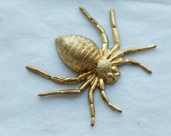 3 Vintage Brass B Movie Spiders