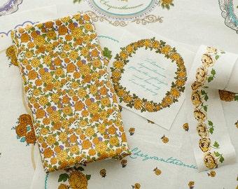 Sale, Lovely ChrysantheMum on Cotton Wide 140cm, U3348