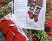 Knitted Snowman Christmas Stocking KIT with pattern by Annie's Woolens
