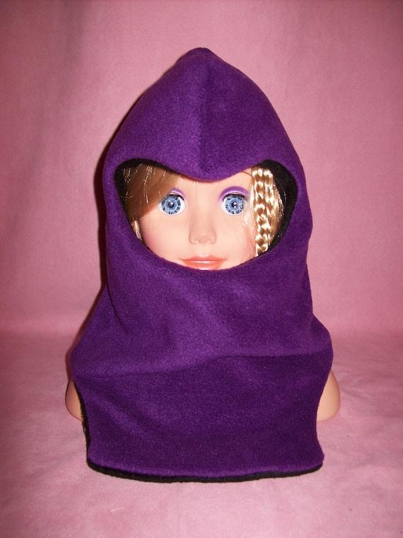 BALACLAVA Hoodie Hat DOUBLE Layers Fleece Reversible ...