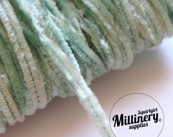 Vintage 1960's-80's Mint Green Chenille Wire (for making your own veiling dots) 1 Metre