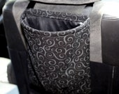 Black Swirls Car Trash Bag or Storage
