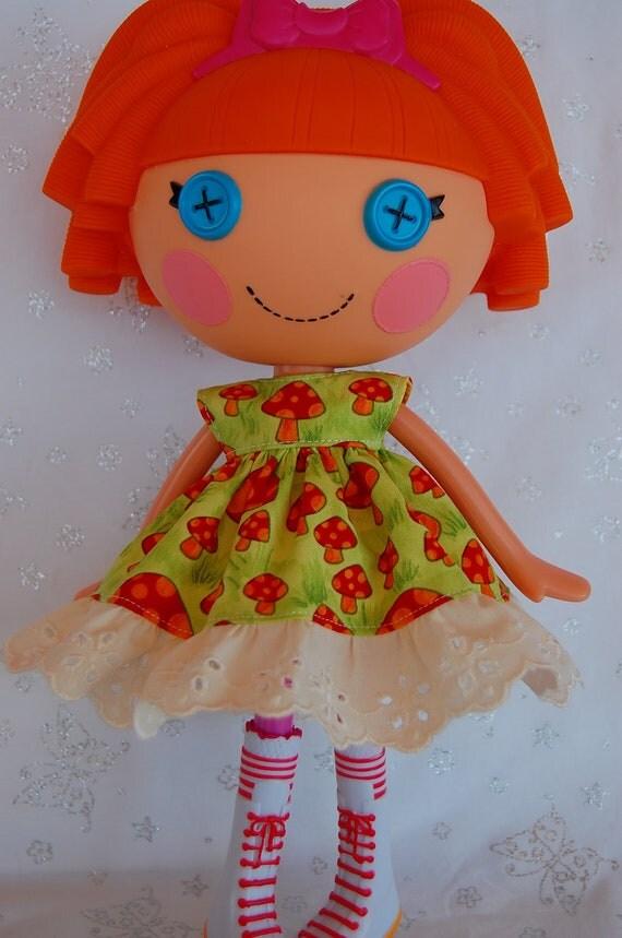 HALF PRICE SALE Funky Mushrooms Dress for LalaLoopsy