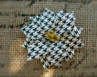 Flower Floral Hair Clip, Winter Weddings, Photo Props,Festive Hair Clip,Poinsettia Hair Flower, Gold Sparkly Hair Accessories,Dance Recitals