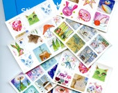 Winter Holiday Stickerbook  90 stickers total