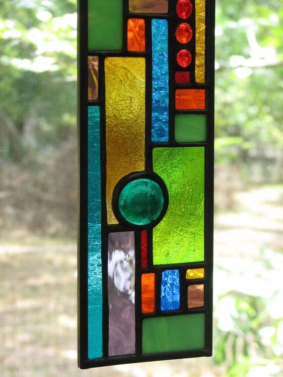 Skinny Geometric Multicolored Mini-Panel