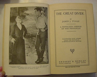 The Great Divide 1925 Silent Movie Film Stills Photoplay Book Conway Tearle Alice Terry