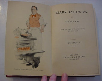 1909 Mary Jane's Pa Antique Photoplay Film Stage Theater Photo Stills