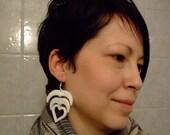 Tribal heart earrings five colors