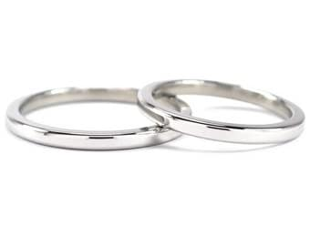 Matching Cobalt Ring Set with Free Sizing: COB-2HRP.2HRP
