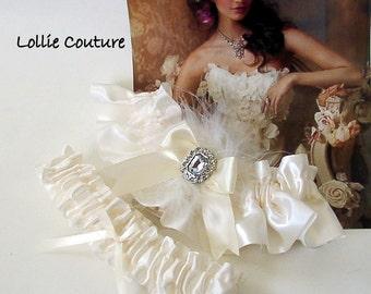 Wedding Lingerie Gift for Bride Ivory Garters