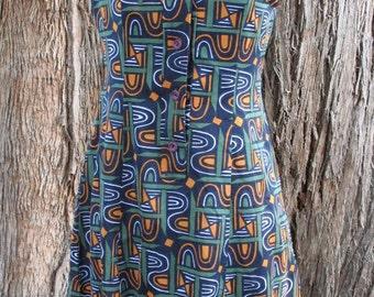 Vintage 1960's Geometric Mod Mini Dress