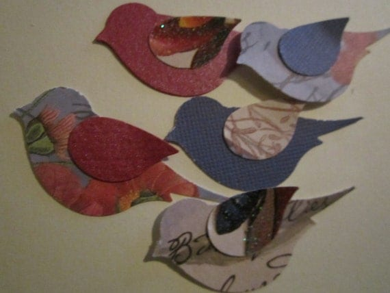 French Country  Paper Birds   75 pc   Confetti    Wedding   Shower    Reception