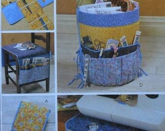 Sewers Organizers Sewing Pattern UNCUT McCalls 4274 bucket chair seat sewing machine organizer