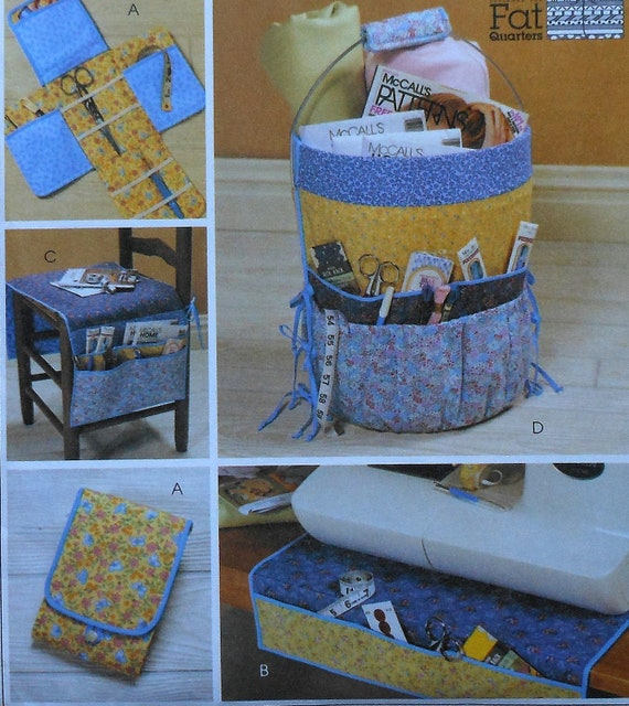 sewers organizers sewing pattern uncut mccalls 4274 bucket