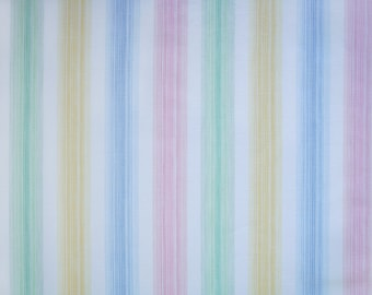 pastel stripes, a vintage sheet fat quarter