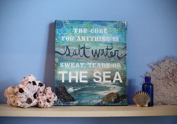 Salt Water- 13 x 11 canvas print
