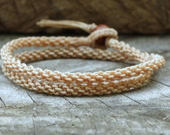 Double Nude Woven Unisex Bracelet/Necklace