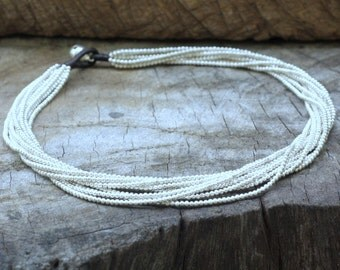 Silver Chain Heavy Necklace