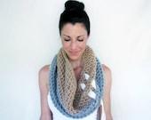 INSTANT DOWNLOAD Crochet PATTERN color block Cinch Cowl pdf diy scarf warmer shrug for her