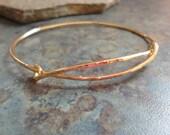 Expandable Heavy 14k Solid Gold Adjustable Hammered Bangle Bracelet 14 K Yellow Pink Rose White 14g 14 Gauge Wire
