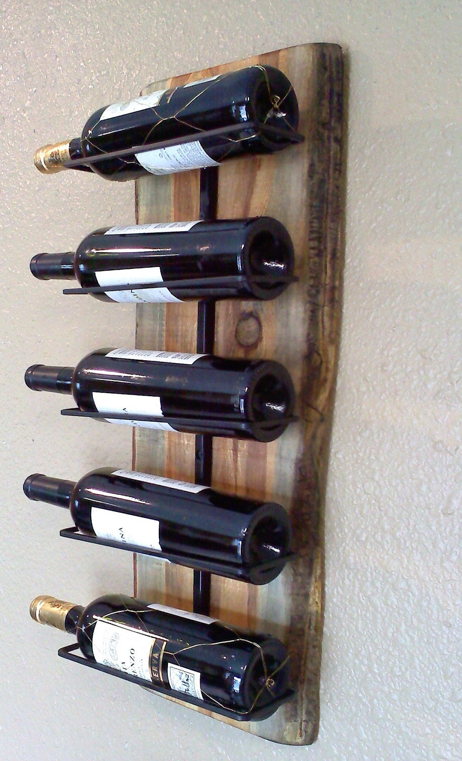 Wall hanging wooden wine rack Hanging wooden wine rack