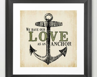 Love As The Anchor - Fine Art Print by Misty Diller