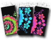 Floral Fantasia II 1 x 2 Inch Rectangular Images Digital Collage Sheet Download and Prin