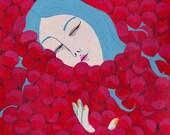 original artwork - cherry girl