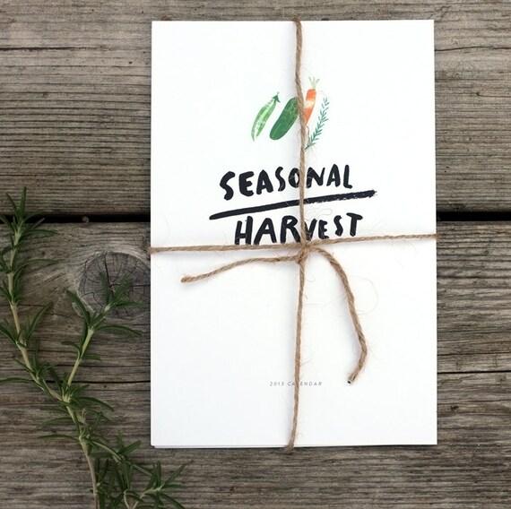 2013 seasonal harvest desk calendar