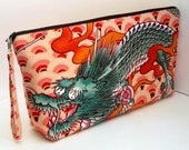 Project Bag DRAGON TATTOO Large Zipper Pouch