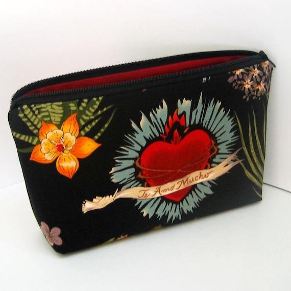 Make-up Bag FRIDA HEART Zipper Pouch