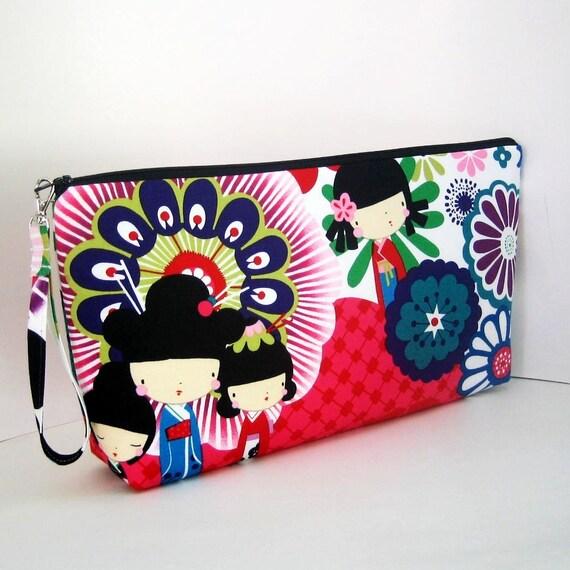 Project Bag KOKESHI DOLLS Large Zipper Pouch
