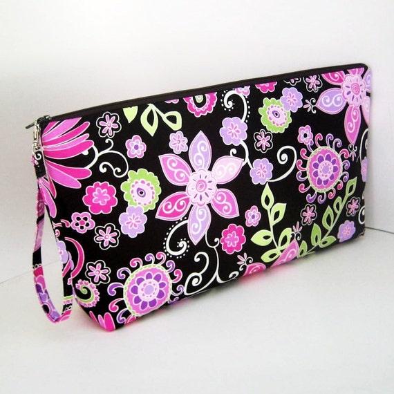 Project Bag BOHO BLOOM Large Zipper Pouch