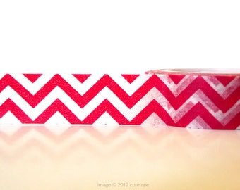 Red Chevron Washi Tape ( Chugoku) Pretty Tape Shop