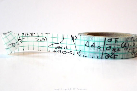 Grid Math Washi Tape from PrettyTape