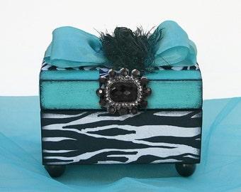 Decorative Zebra Jewelry Box Waves of Zebra