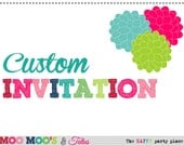 Printable CUSTOM INVITATION from Moo Moo's & Tutus Design Studio