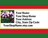 60 PERSONALIZED Return Address Labels. 2 Sheets White 1-Inch Labels. COLOR Picture. 5148